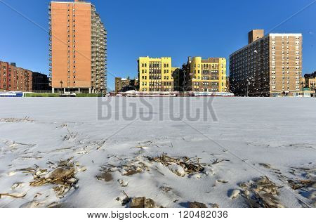 Coney Island Beach With Snow