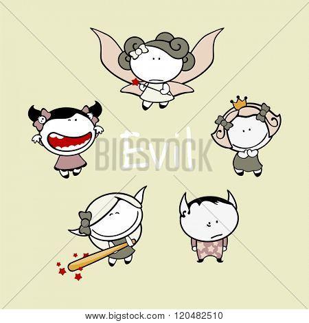 Funny kids #83 - evil creatures