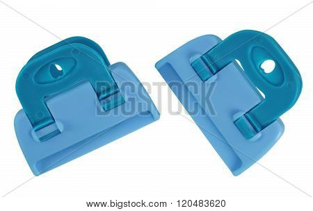 Clamps Isolated - Light Blue