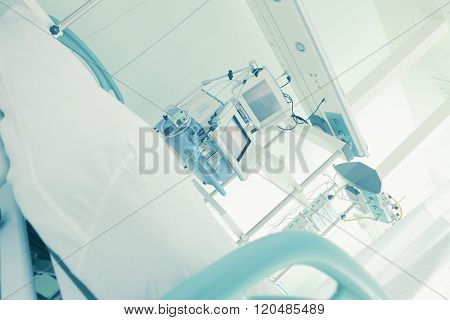 Empty Hospital Ward, Ready To Receive The Patient