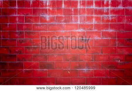 Red wall brick background
