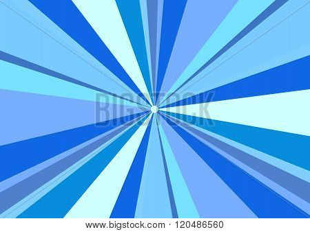 Rays Radius Background Center Blue