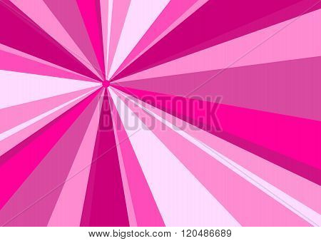 Rays Radius Background Pink