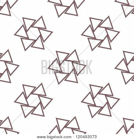 Seamless Colorful Abstract Pattern From Repetitive Concentric Triangles