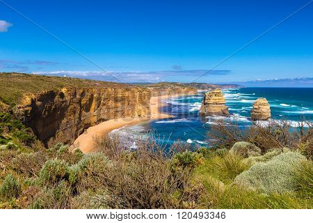 The Loch Ard Gorge Lookout in Great Ocean Road Australia.