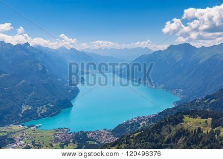 Brienzer Lake And The Alps