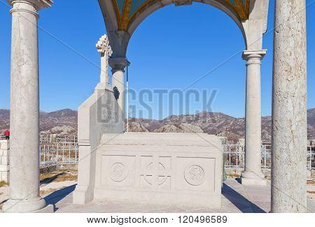 Bishop Danilo Mausoleum At Eagle Hill In Cetinje, Montenegro