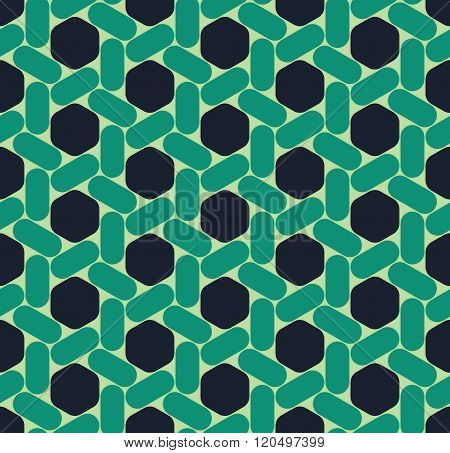 Vector modern seamless colorful geometry hexagon pattern color abstract