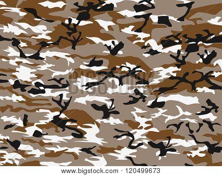 Urban Camouflage White Brown