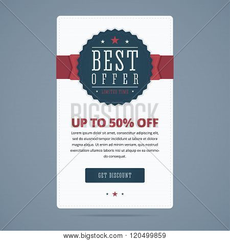 Best sale banner with best offer stamp