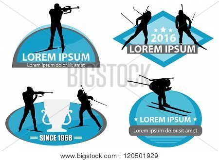 Biathlon Logo Set