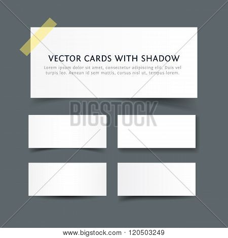 Paper cards with shadow