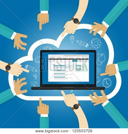 SaaS Software as a service cloud application access internet subscription basis centrally hosted on-