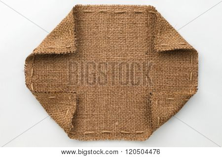 Frame With Burlap Wrapped Edges