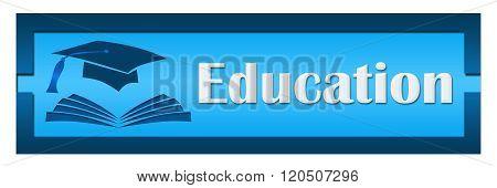 Education Shaded Blue Blocks