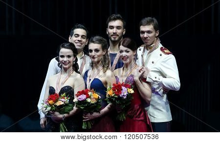 Ice Dance Victory Ceremony