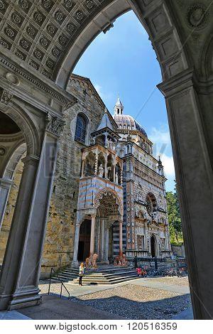 BERGAMO, LOMBARDY, ITALY - APRIL 14, 2014: Cappella Colleoni and Basilica di Santa Maria Maggiore