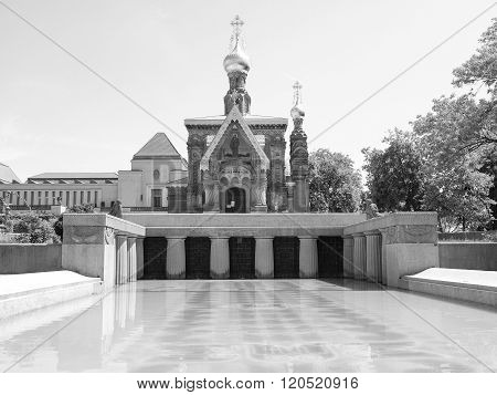 Black And White Russian Chapel In Darmstadt