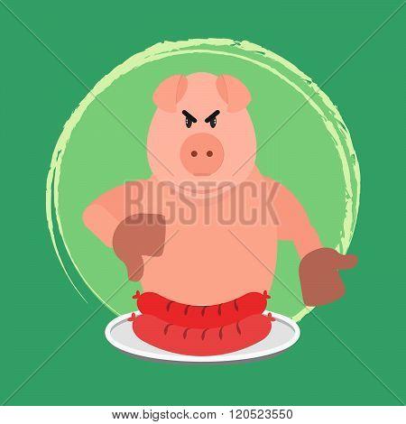 Angry Pig And No Sausage