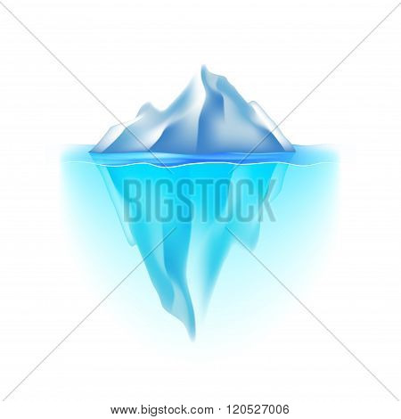 Iceberg Isolated On White Vector