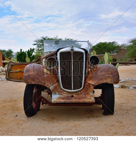 Abandoned Old Morris Eight Car