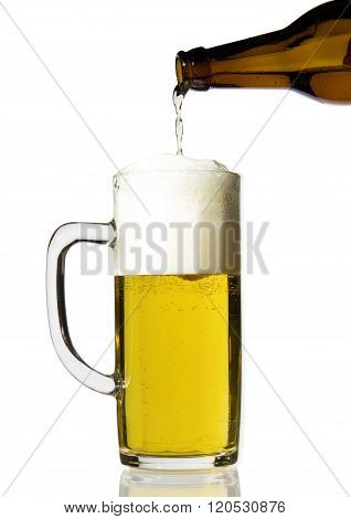 A big beautiful cup of beer