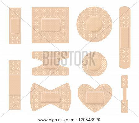 Set Of Medical Plasters