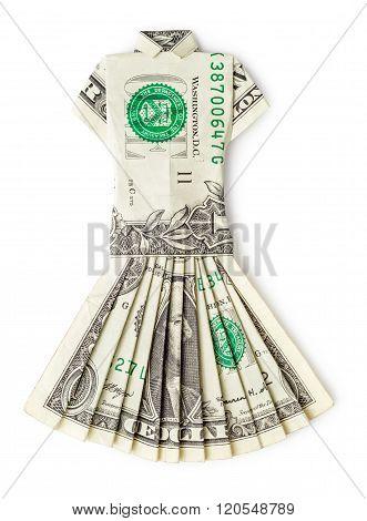 Dollar Dress Isolated