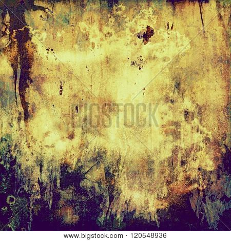 Grunge background with vintage and retro design elements. With different color patterns: yellow (beige); brown; purple (violet); gray