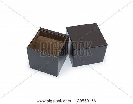 Black box isolated on the white background