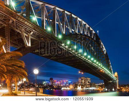 Sydney Harbor Bridge By Night