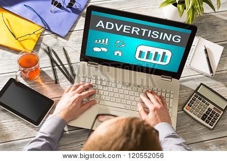Advertise Advertising Advertisement Branding Commercial Concept