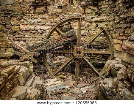 Old, Broken Mill Wheel