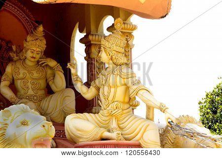 Krishna Sermonising Arjuna