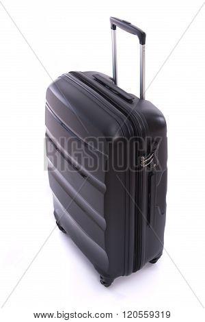 Black Luggage Isolated