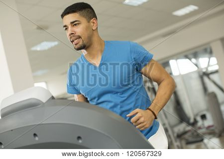Young Black Man In The Gym