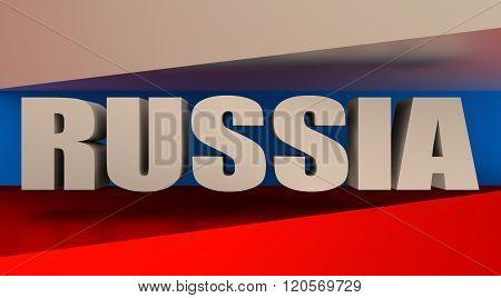 Russia flag design concept