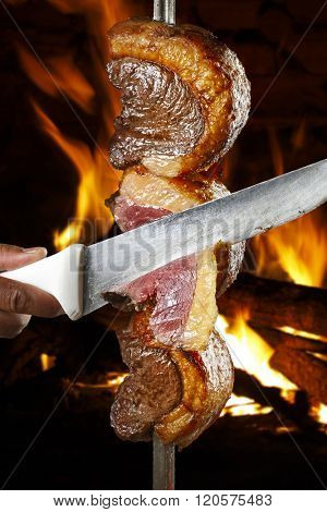 Picanha, traditional Brazilian barbecue.