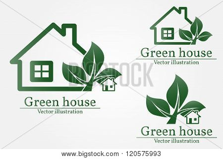 Green House Logo. Eco House. Green House Vector. Green House Art. Green House Graphic. Green House J