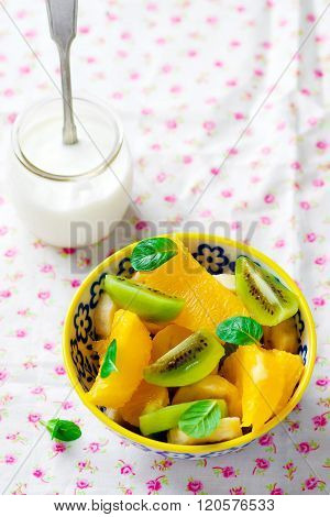 Fruit Yogurt Salad.