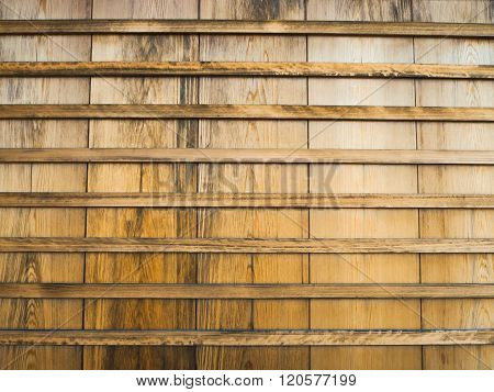 Wooden wall in Japanese style
