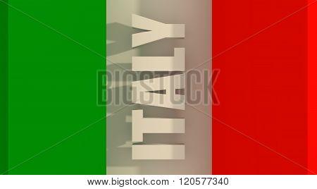 Italy flag design concept