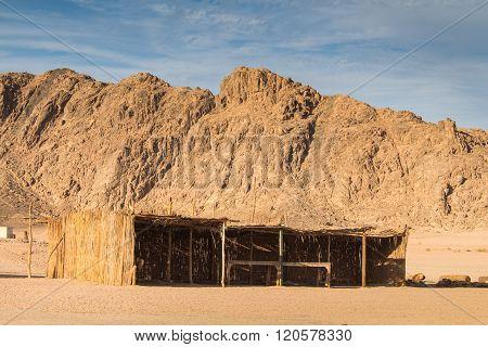 Egyptian Desert And Bedouin Building
