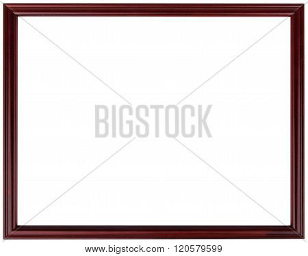 Wood vintage frame isolated on white. Wood frame abstract design.