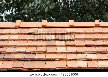 Roof Clay Tile On Residential House