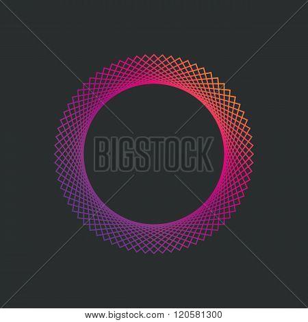 Circle logo gradient design template. Line design template logotype.