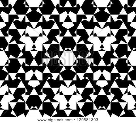 Seamless Pattern Abstract Honeycomb Mosaic