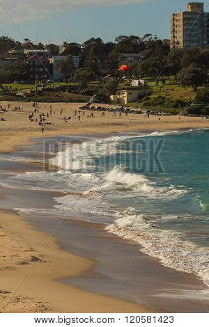 High angle view on Coogee beach at day time