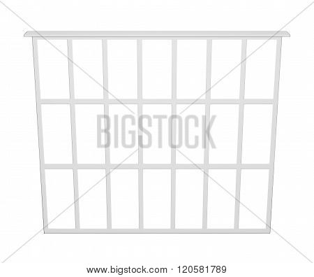 Food Basket On White Background