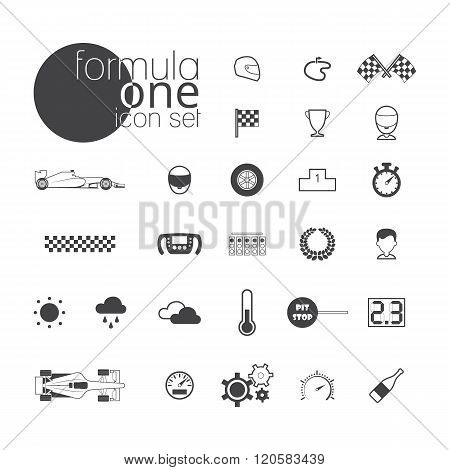 Formula one icon set